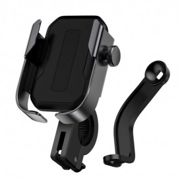 Baseus adjustable phone bike mount holder for handlebar and mirror black (SUKJA-01)