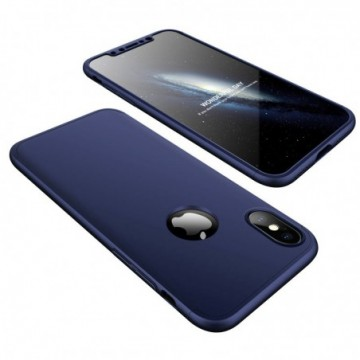 GKK 360 Protection Case Full Cover iPhone XS / X navy blue