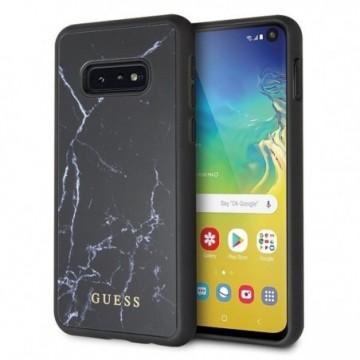 Guess GUHCS10LHYMABK S10e G970 black hard case Marble