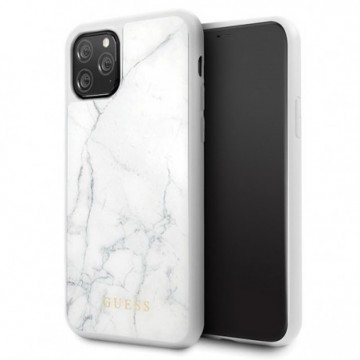Guess GUHCN58HYMAWH iPhone 11 Pro white Marble