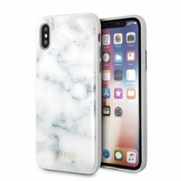 Guess GUHCPXHYMAWH iPhone X/Xs white Marble