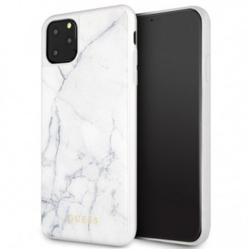 Guess GUHCN65HYMAWH iPhone 11 Pro Max white Marble