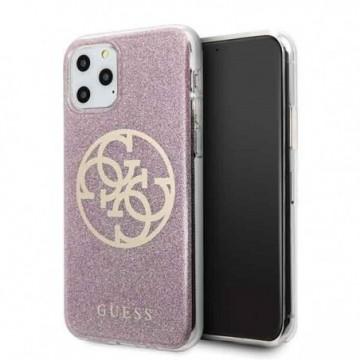 Guess GUHCN58PCUGLPI iPhone 11 Pro pink hard case 4G Circle Glitter