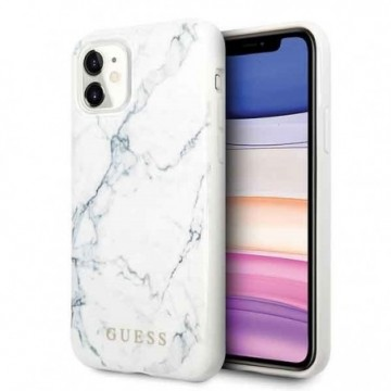 Guess GUHCN61PCUMAWH iPhone 11 white Marble