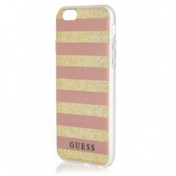 Guess GUHCP6STGPI iPhone 6/6S pink hardcase Ethnic Chic Stripes 3D