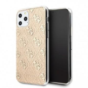 Guess GUHCN58PCU4GLGO iPhone 11 Pro gold hard case 4G Glitter