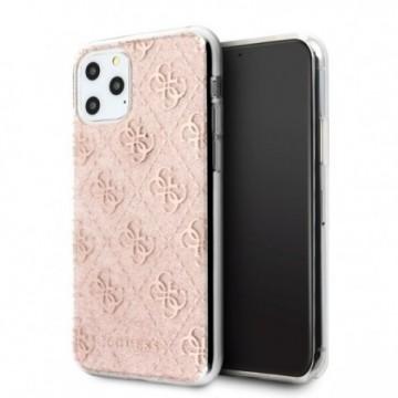 Guess GUHCN58PCU4GLPI iPhone 11 Pro pink hard case 4G Glitter