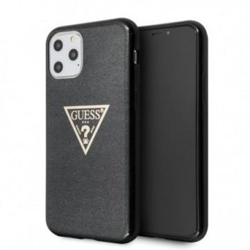 Guess GUHCN65SGTLBK iPhone 11 Pro Max black hard case Glitter Triangle