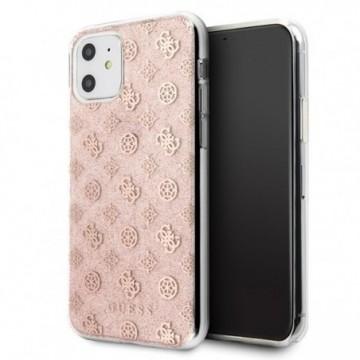 Guess GUHCN61TPERG iPhone 11 pink hard case 4G Peony Glitter