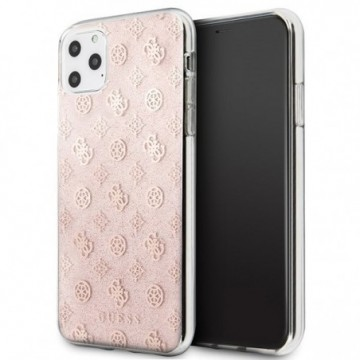 Guess GUHCN65TPERG iPhone 11 Pro Max pink hard case 4G Peony Glitter