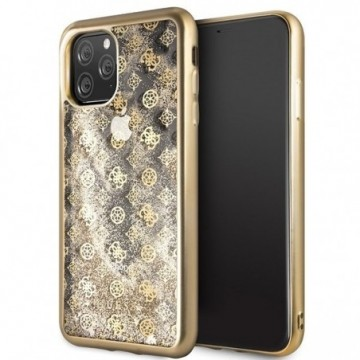 Guess GUHCN65PEOLGGO iPhone 11 Pro Max gold hard case 4G Peony Liquid Glitter