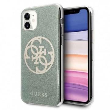 Guess GUHCN61PCUGLKA iPhone 11 khaki hard case 4G Circle Glitter