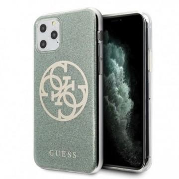 Guess GUHCN65PCUGLKA iPhone 11 Pro Max khaki hard case 4G Circle Glitter