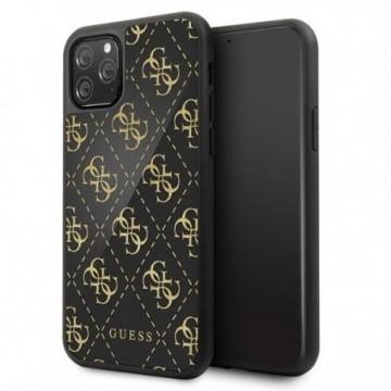 Guess GUHCN584GGPBK iPhone 11 Pro black hard case 4G Double Layer Glitter