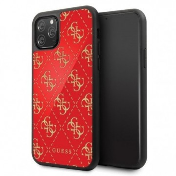 Guess GUHCN584GGPRE iPhone 11 Pro red hard case 4G Double Layer Glitter