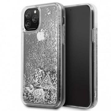 Guess GUHCN58GLHFLSI iPhone 11 Pro silver hard case Glitter Hearts