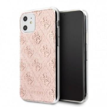 Guess GUHCN61PCU4GLPI iPhone 11 pink hard case 4G Glitter