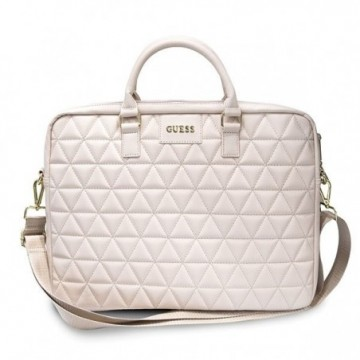 "Guess Torba GUCB15QLPK 15"" pink Quilted"