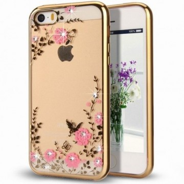 Bloomy Case Stylish Gel Case Flower Cover Samsung Galaxy J3 2017 J330 gold