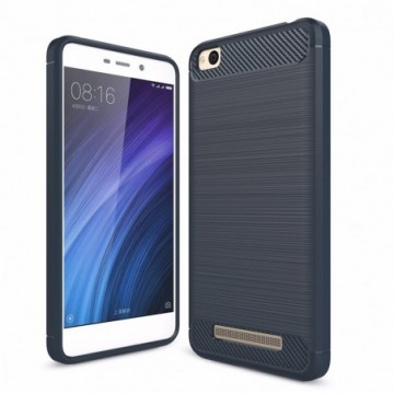 Carbon Case Flexible Cover Case for Xiaomi Redmi 4A blue