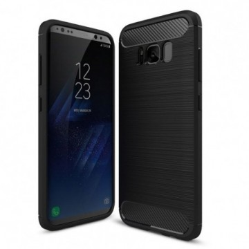 Carbon Case Flexible Cover Case for Samsung Galaxy S8 G950 black