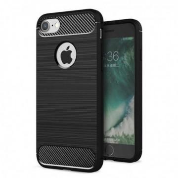 Carbon Case Flexible Cover Case for iPhone 8 / 7 black