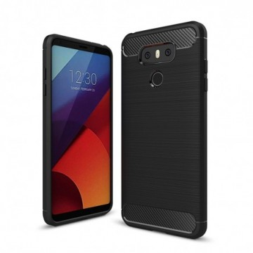 Carbon Case Flexible Cover Case for LG G6 H870 black