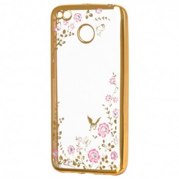 Bloomy Case Stylish Gel Case Flower Cover Xiaomi Redmi 4X golden