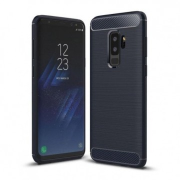 Carbon Case Flexible Cover Case for Samsung Galaxy S9 Plus G965 blue