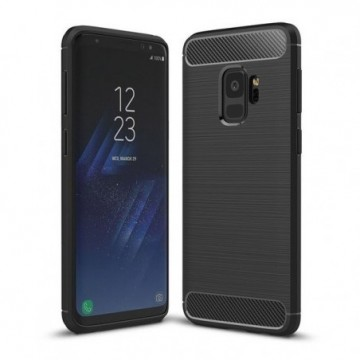 Carbon Case Flexible Cover Case for Samsung Galaxy S9 G960 black
