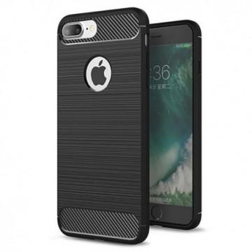 Carbon Case Flexible Cover Case for iPhone 8 Plus / 7 Plus black