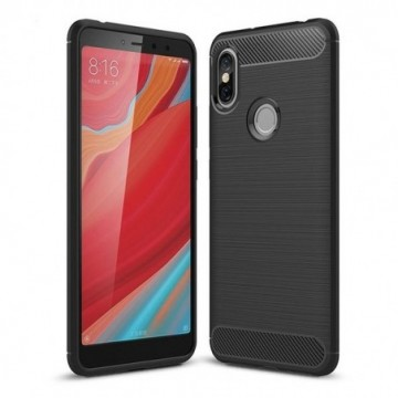 Carbon Case Flexible Cover Case for Xiaomi Redmi S2 black