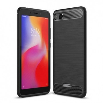 Carbon Case Flexible Cover Case for Xiaomi Redmi 6A black