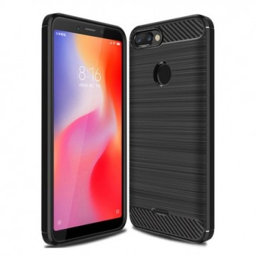 Carbon Case Flexible Cover Case for Xiaomi Redmi 6 black