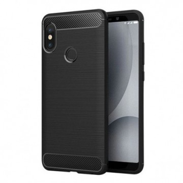 Carbon Case Flexible Cover Case for Xiaomi Redmi Note 5 (dual camera) / Redmi Note 5 Pro black