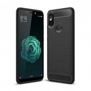 Carbon Case Flexible Cover Case for Xiaomi Mi A2 / Mi 6X black