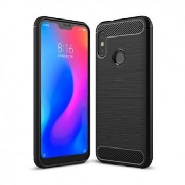 Carbon Case Flexible Cover Case for Xiaomi Mi A2 Lite / Redmi 6 Pro black