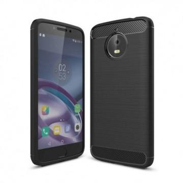 Carbon Case Flexible Cover Case for Motorola Moto G6 Plus black