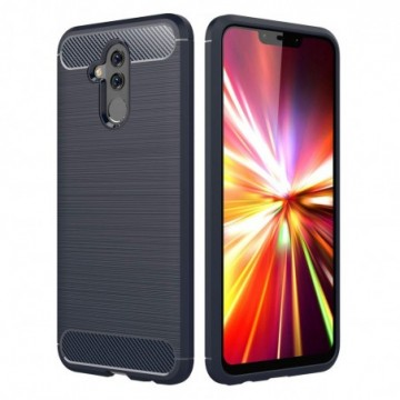 Carbon Case Flexible Cover Case for Huawei Mate 20 Lite blue