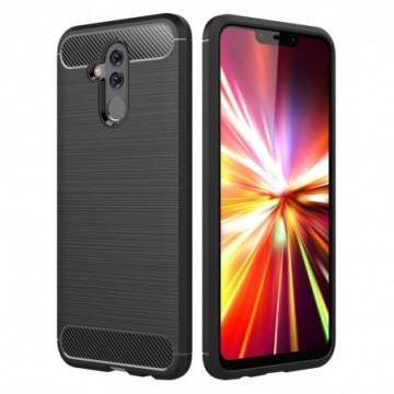 Carbon Case Flexible Cover Case for Huawei Mate 20 Lite black