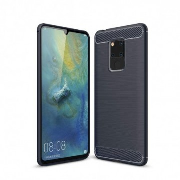 Carbon Case Flexible Cover Case for Huawei Mate 20 blue
