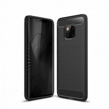 Carbon Case Flexible Cover Case for Huawei Mate 20 Pro black