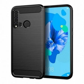Carbon Case Flexible Cover Case for Huawei P20 Lite 2019 / Huawei Nova 5i black