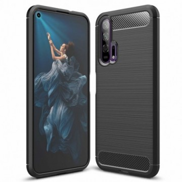 Carbon Case Flexible Cover Case for Huawei Honor 20 / 20 Pro black