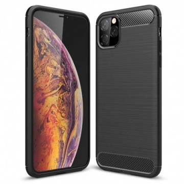 Carbon Case Flexible Cover Case for iPhone 11 Pro Max black
