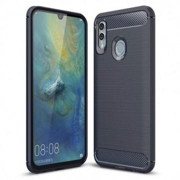 Carbon Case Flexible Cover Case for Huawei P Smart Plus 2019 / Honor 10 Lite blue