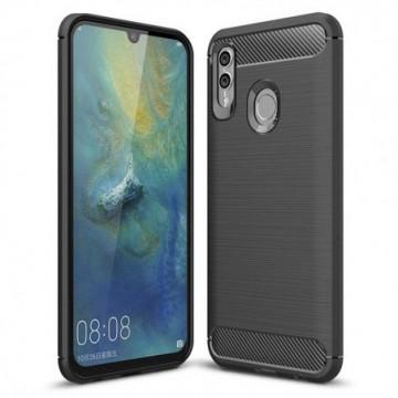 Carbon Case Flexible Cover Case for Huawei P Smart Plus 2019 / Honor 10 Lite black