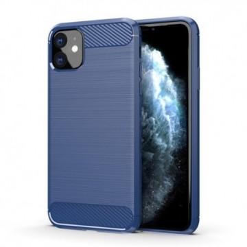 Carbon Case Flexible Cover Case for iPhone 11 blue