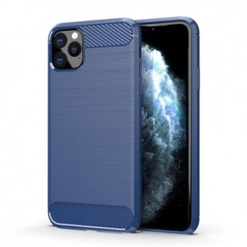 Carbon Case Flexible Cover Case for iPhone 11 Pro Max blue