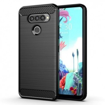 Carbon Case Flexible Cover Case for LG K50S black